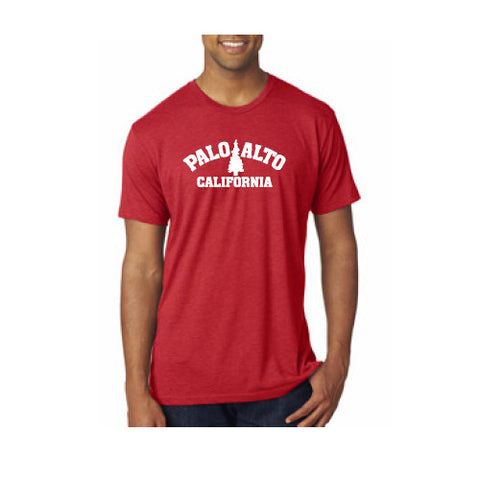 PASS Tee Triblend Trad Tree Vintage Red X Large