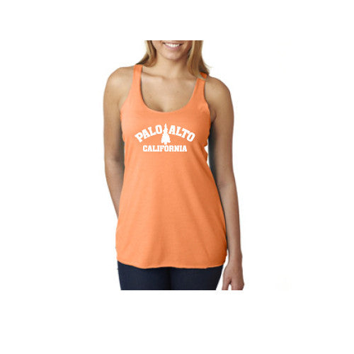 PASS Tank Triblend Trad Tree Vintage Light Orange Large