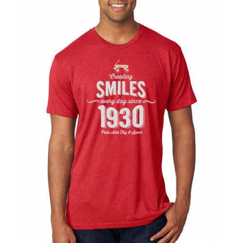 PASS Tee Smiles 1930 Vintage Red Yth X Small