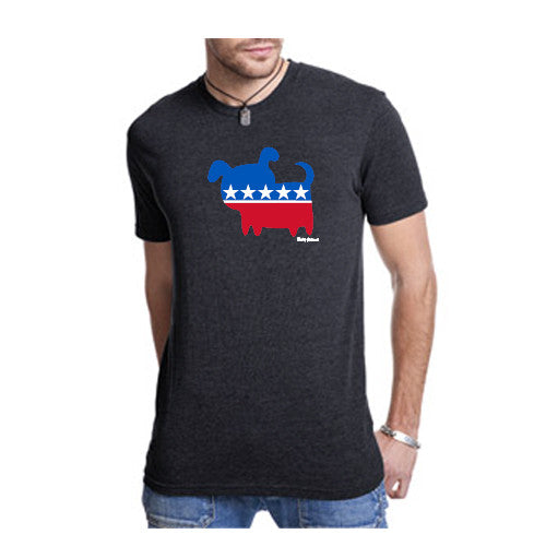 Pass Tee Triblend Political Dog Black X Large