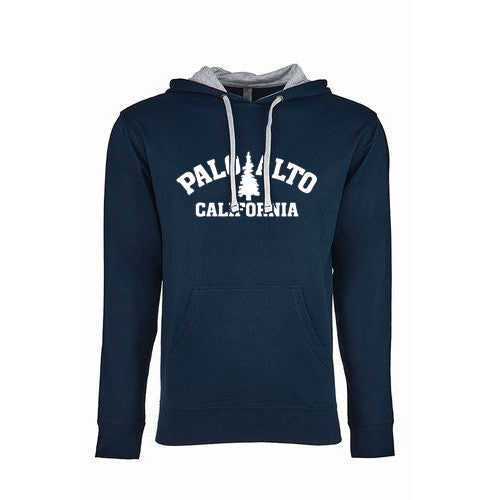 Pass Hoodie Trad Tree Terry MidNavy Heather Grey Large