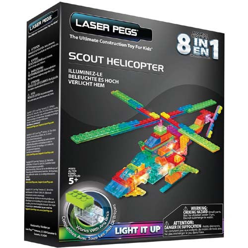 Laser Pegs Scout Helicopter Power Block