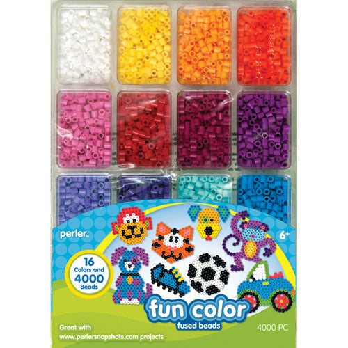 Perler Beads Tray of Beads Fun Colors