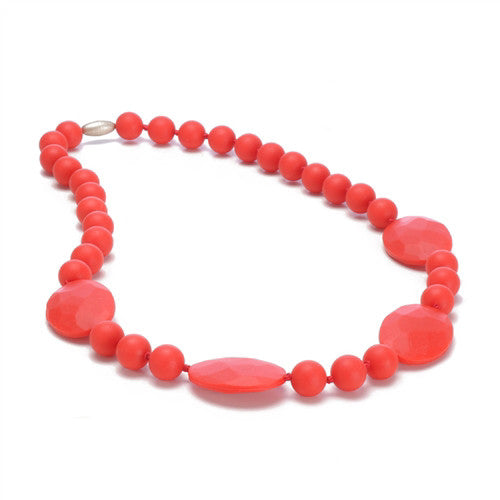Chewbeads Necklace Teether Necklace| Cherry Red