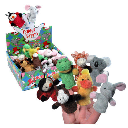 Schylling Plush Finger Puppets Assorted