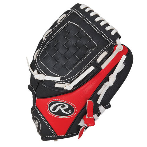 Rawlings 9.0 Inch Glove W/Ball Black Red