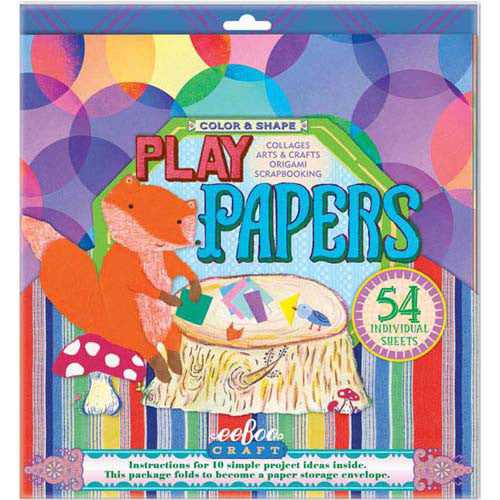 Eeboo Play Papers Color & Shapes 54 shee