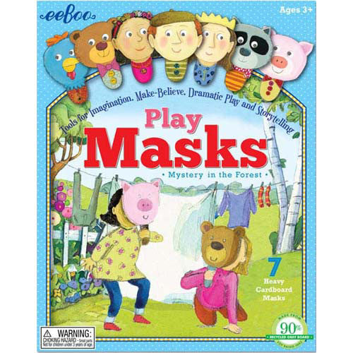 Eeboo Play Masks Mystery in Forest