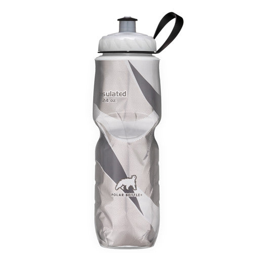 Polar 24oz Insulated Water Bottle Black/White