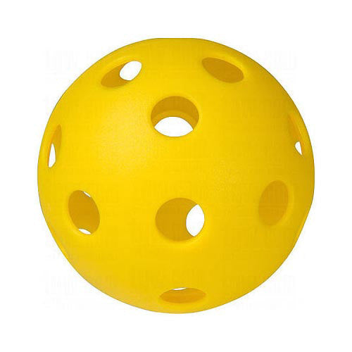Unique Plastic Baseball All Holes Yellow
