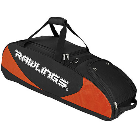 Rawlings Player Pref Wheeled Bag ORG BLK