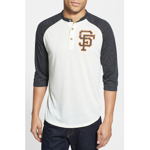 Red Jacket Henley 3/4 Uncle Charlie San Francisco Giants Medium
