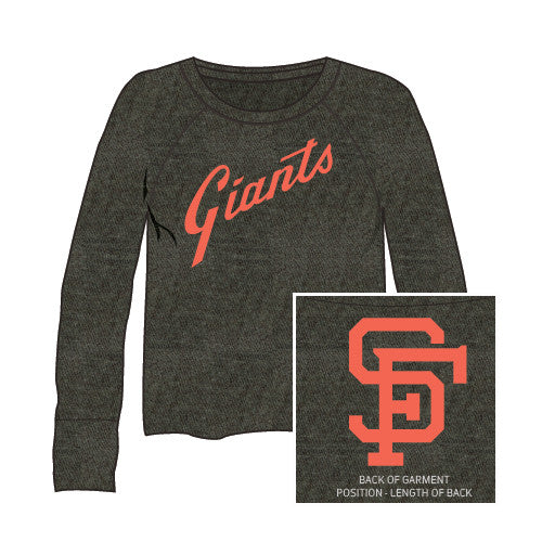 Red Jacket Wos Crop Top L/S Field Day San Francisco Giants Large
