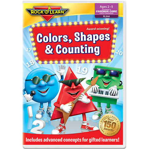 Rock N Learn DVD Colors, Shapes & Counti