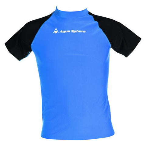 AquaSphere Loose S/S Men's Rashguard Blue/Black LG