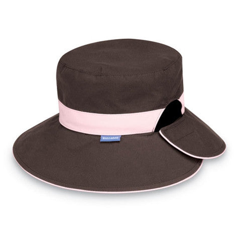 Wallaroo Reversible Resort UV Sun Hat Chocolate/Pink