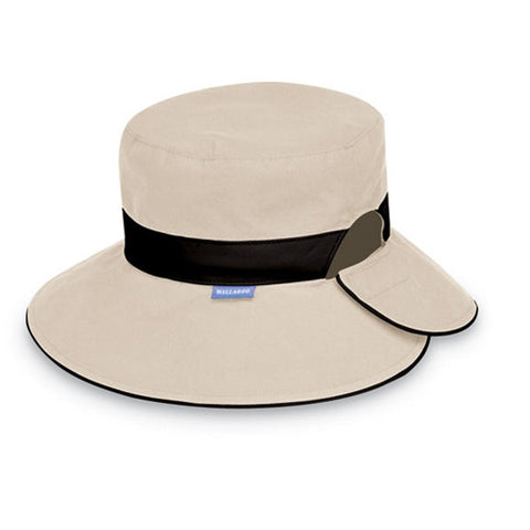 Wallaroo Reversible Resort UV Sun Hat Taupe/Black