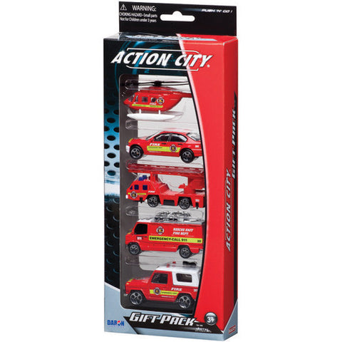 Daron Fire Department 5pc Vehicle Gift P
