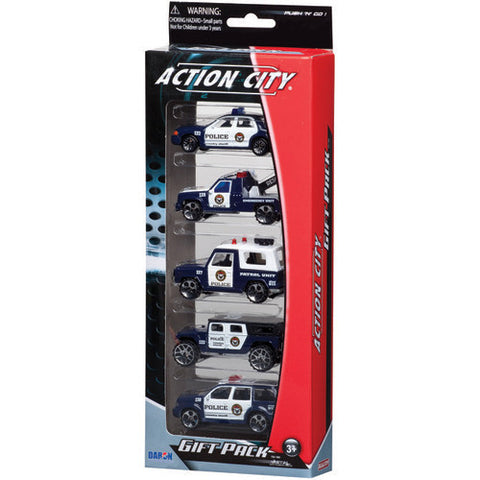 Daron Police Dept 5pc Vehicle Gift Pack