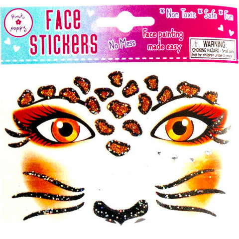 Face Stickers - Orange Cat