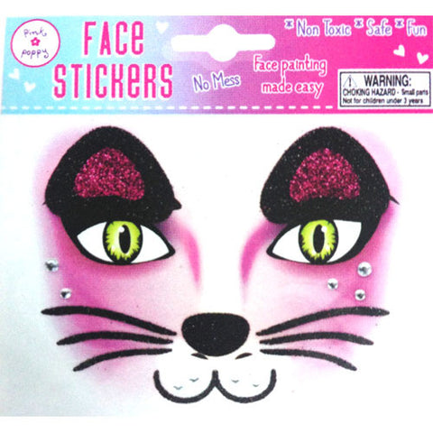 Face Stickers - Purple Cat