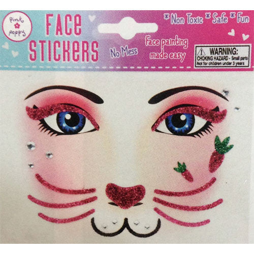Face Stickers - Pink Rabbit