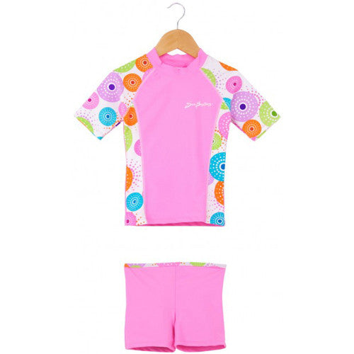 SunBusters Rash and Short Set Pink 6-12 months