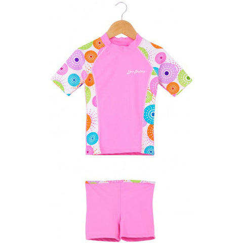 SunBusters Rash and Short Set Pink Size 6