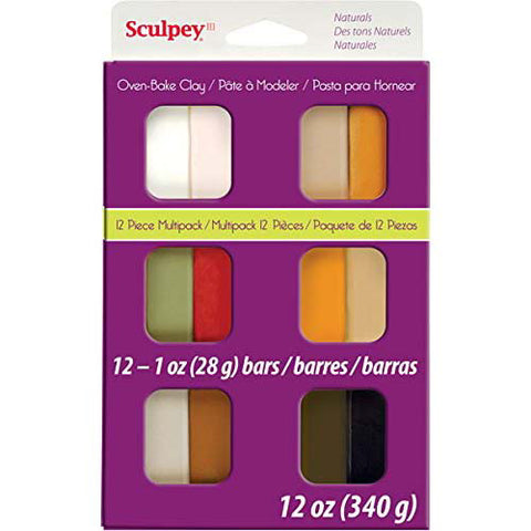 Sculpey III Natural 12pc Multi-Pack Clay