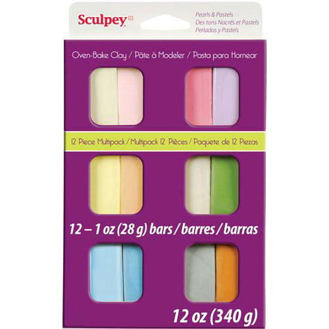 Sculpey III Pearls & Pastel 12pc Clay