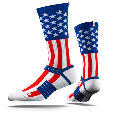 Strideline Socks S Collection Uncle Sam One Size