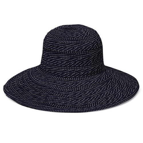 Wallaroo Scrunchie Sun Hat Black