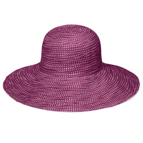 Wallaroo Scrunchie Sun Hat Purple