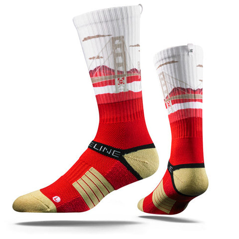Strideline Socks SFO Gold Scarlet One Size