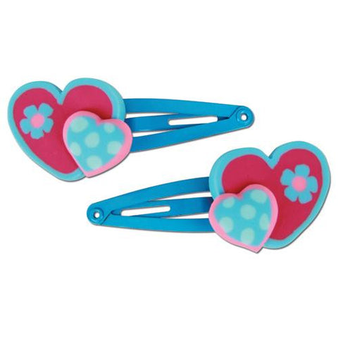 Stephen Joseph Heart Hair Clips