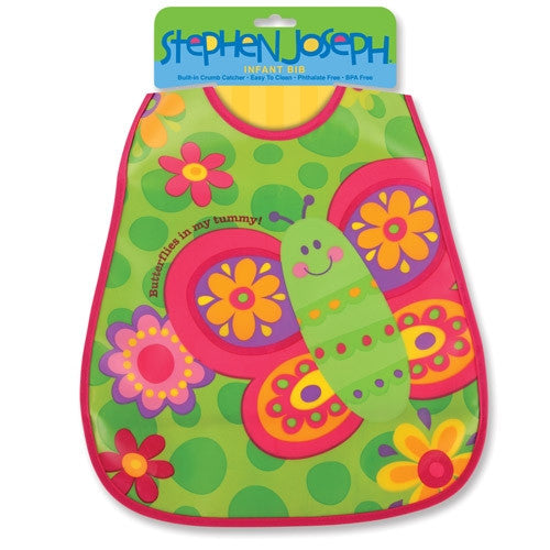 Stephen Joseph Wipeable Bibs Butterfly