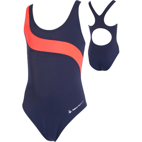AquaSphere Girls Lucy Navy/Red 8 youth