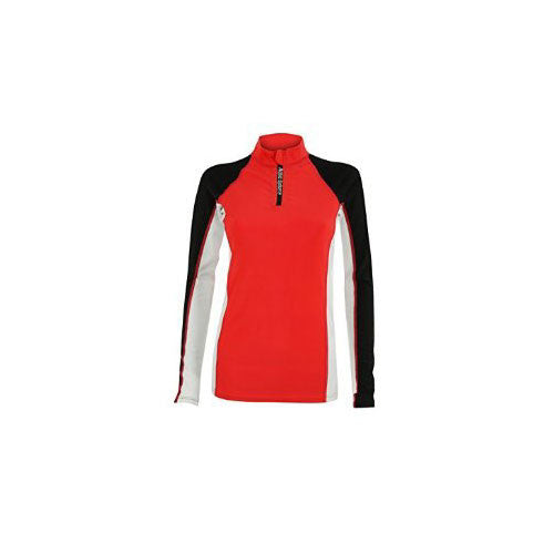 AquaSphere Girls L/S Rashguard Black/Red 8 youth