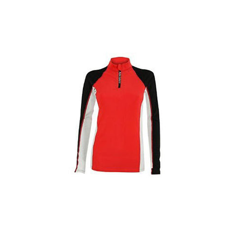 AquaSphere Girls L/S Rashguard Black/Red 10 youth