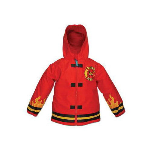 Stephen Joseph Firetruck Raincoat 5/6