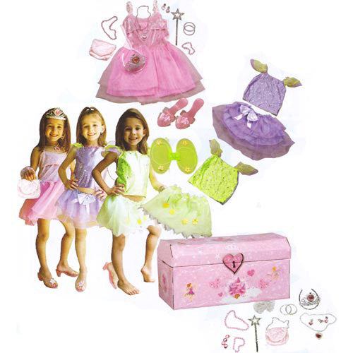 Marlon Girl's Dress Up Trunk 23pcs