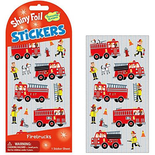 Peaceable Firetruck Foil Stickers