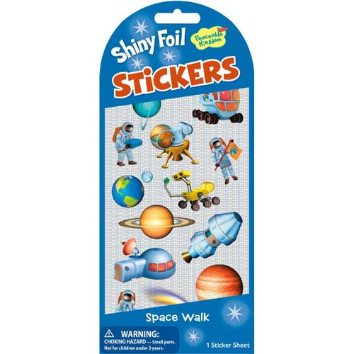 Peaceable Space Walk Foil Stickers