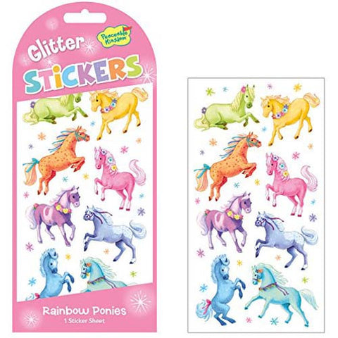Peaceable Glitter Ponies Stickers