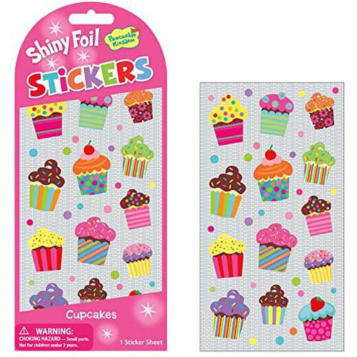 Peaceable Cupcakes Foil Stickers