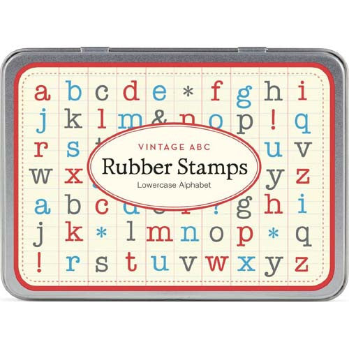 Cavallini Rubber Stamp Alpha Lowercase