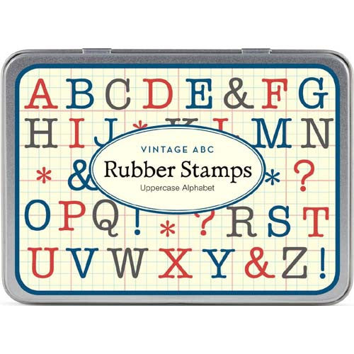 Cavallini Rubber Stamp Alpha Uppercase