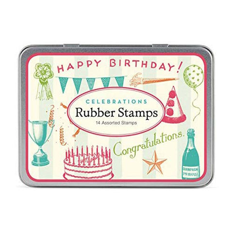Cavallini Rubber Stamp Celebrations