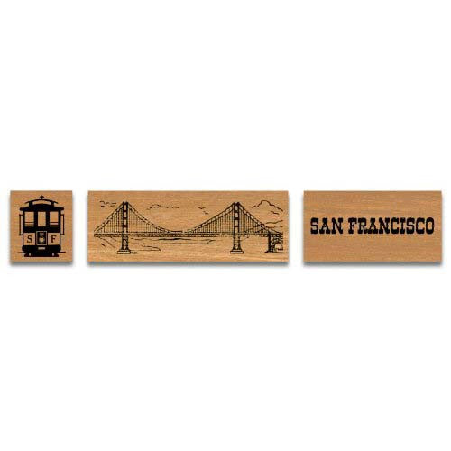 Cavallini Rubber Stamp San Francisco
