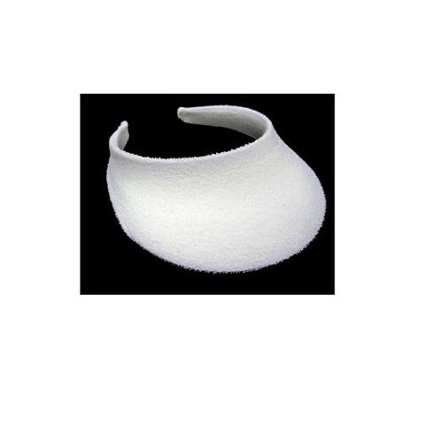 Unique Terry Sun Visor White